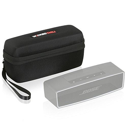 Wicked Chili Tasche für Bose Soundlink Mini 2 Lautsprecher / Bluetooth Speaker Hardcase Hülle (Passgenaues Case mit Fach für Netzteil und Zubehör) schwarz / black
