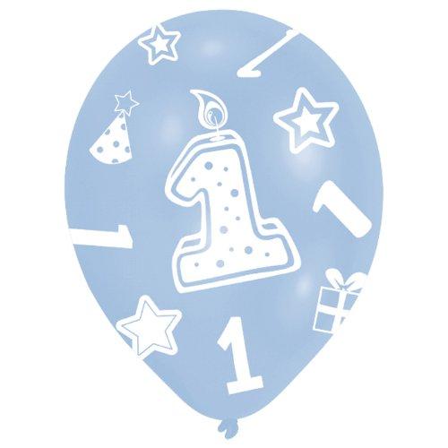 Amscan 27.5 cm  1. Geburtstag, 6 Luftballons, Blau