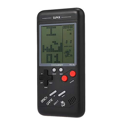 Ogquaton Premium-Qualität RS-99 Classic Spielekonsole Tetris Game Block-Spiel Puzzle-Spiele Handheld-Spiel-Maschine für (Tetris-spiel Handheld)