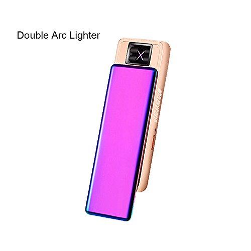 Jobon Exquisiten Lady Double ARC Feuerzeug ZB-388 USB Aufgeladen Mit Wind-flameless Reinigungsbürsten und Geschenk - box(Dazzle farbe) (Laptop Utility Tote)