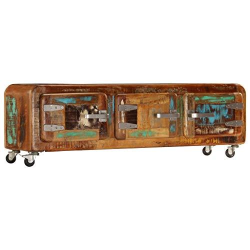 Mewmewcat mobile porta tv in legno massello di recupero 120x30x37 cm