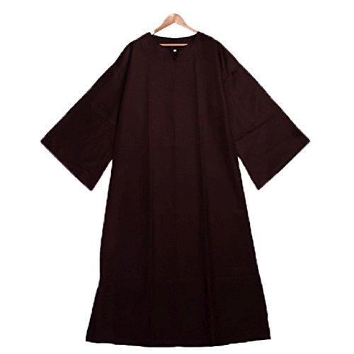 Männer mittelalterlichen Robe Ritual Robe Umhang Clergy Cassock mit Gürtel Cosplay - Männer Victorian Kostüme