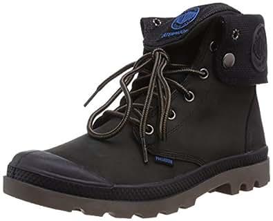 Palladium BAGGY LEATHER GUSSET BLACK/DARK GUM M, Herren Desert Boots - Schwarz (BLACK/DARK GUM 057), 44 EU (9.5 Herren UK)