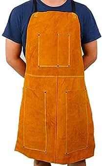 Delantal de soldadura de piel, delantal Blacksmith, resistente retardante de llama, soldador de