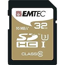 Emtec SDHC 32GB Class10 Speedin 32GB SDHC Clase 10 memoria flash - Tarjeta de memoria (32 GB, SDHC, Clase 10, 95 MB/s, Negro)