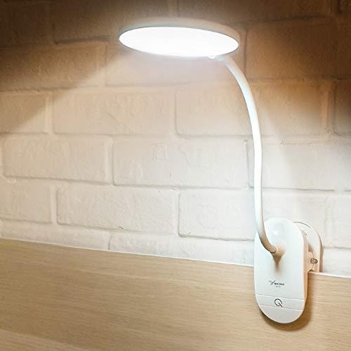 FZYUAN Clip-Tischlampe, LED-Schreibtisch-Nachttischlampe, Level-Dimmer, Clip On-Lampe, USB-Touch-Tischlampe für Bett, Kinder, Studie, Lesen -