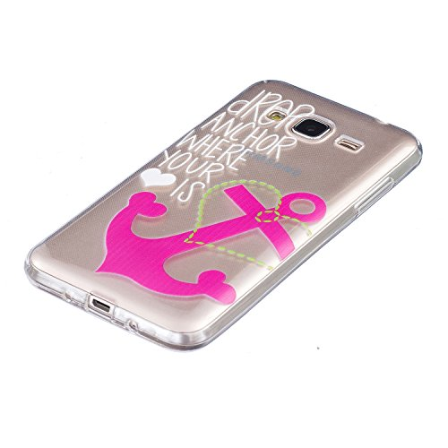 Per iPhone 7 Plus Custodia,Mobilefashion Custodia in Ultra Sottile TPU Protettiva Case Cover per Apple iPhone 7 Plus 5.5 inch (lupo M) + Pellicola Protettiva Dono Gratuito + Colore casuale Protezione  ancore rosse M