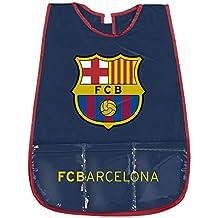 PERLETTI Delantal Infantil FC Barcelona - Bata Escolar Impermeable del Barça con Bolsillo Delantero - Ideal