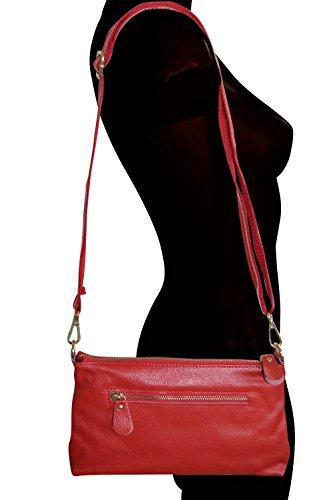 KARL LOVEN, Borsa baguette donna marrone marrone rosso