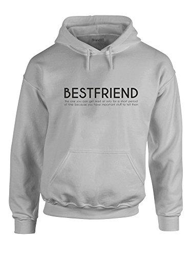 Brand88 Bestfriend, Gedruckt Hoody - Pullover - Grau/Schwarz M = 96-101 cm