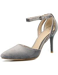 QIN&X Chaussures Femmes Sandales Talons Aiguilles,Blanc,47