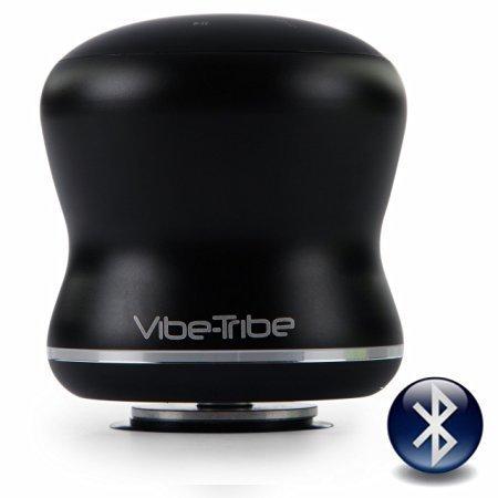 Vibe-Tribe Mamba Noir - 18 Watt Haut-parleurs a Vibration Sans Fil, Bluetooth, NFC, Ecran Tactile, Connexions en série & Mains-libres