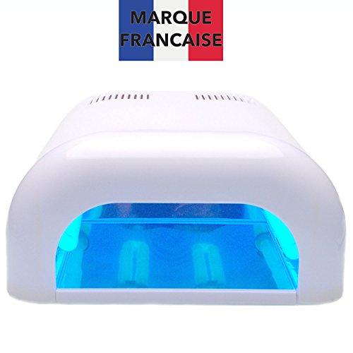 TAKIT Nagellampe UV 36Watt- Lichthärtungsgerät Für Shellac Und Gel Mit Timer + 4 X 9w Glühbirnen Inbegriffen, Mit Einschub & Timer-einstellung, Weiß