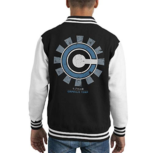 Cloud City 7 Capsule Corp Retro Japanese Kid's Varsity Jacket