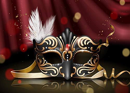 AIIKES 7x5FT/2,1Mx1,5M Geburtstags Party Fotografie Hintergrund Dünnes Vinyl Maskerade Foto Hintergrund Geheimnisvoll Fotografie Hintergrund Foto Hintergrund Studio für Hochzeits Dekoration 11-417