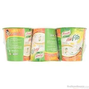 PiggyTogether - Knorr Cup Jok Energy Fish Flavour Instant Porridge 35g. (Pack Of 3), Delicious Breakfast