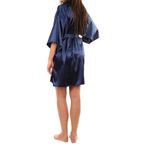 Sue&Joe - Chemise de nuit - Uni - Manches 3/4 - Femme Bleu - Noir foncé