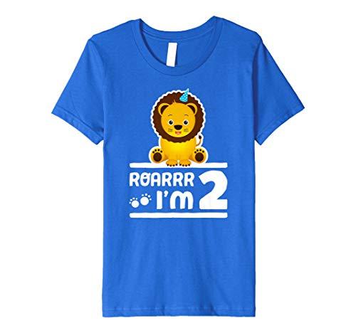 (Kinder Kids niedliche 2nd Birthday Boy Jugend Löwe Zoo Shirt 2Jahr Kinder)