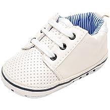 estamico Baby Boy zapatillas de tenis, color blanco