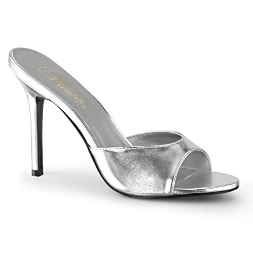 Pleaser CLASSIQUE-01 SLV Metallic Pu UK 6 (EU 39) -