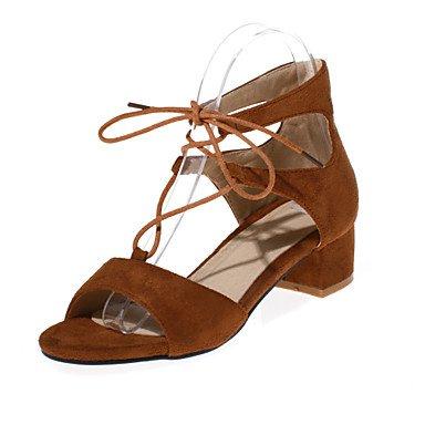 Zormey Frauen Schuhe Samt/Ferse/Plattform/Open Toe Pumps Kleid Schwarz/Braun/Burgund US8.5 / EU39 / UK6.5 / CN40