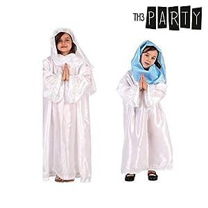 Atosa-50856 Atosa-50856-Disfraz Virgen niña infantil-talla 5 a 6 años SURTIDO-Navidad, color (50856)