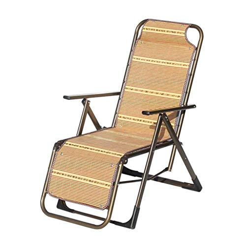 Myzdty-Pliante Textilene Chaise Fauteuil inclinable Pliant Bamboo Zero Gravity Deck Chairs Portable Beach Garden réglable avec accoudoirs