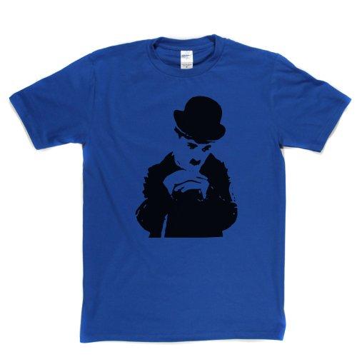 Charlie Chaplin Silent Films English Comedian T-shirt Königsblau