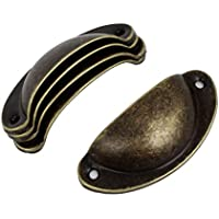 Sourcingmap a14082700ux0124 - Stile vintage porta cassetto maniglione lunghezza 8 centimetri 5 pezzi tono bronzo