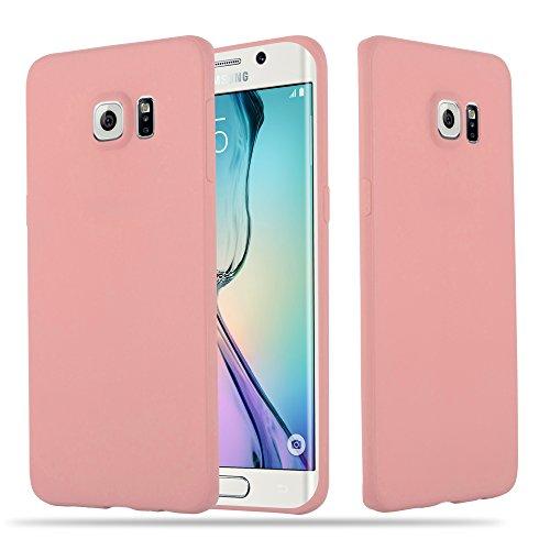 Samsung Galaxy S6 EDGE Silikon-Hülle in CANDY ROSA von Cadorabo - Ultra Dünn Slim Design TPU Schutz-hülle – Handy-hülle Bumper Back Case Cover