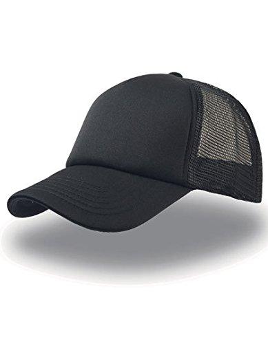Rapper Atlantis - Gorra visera rejilla trucker cap unisex color Negro Negro  - Talla única bc69e09464f