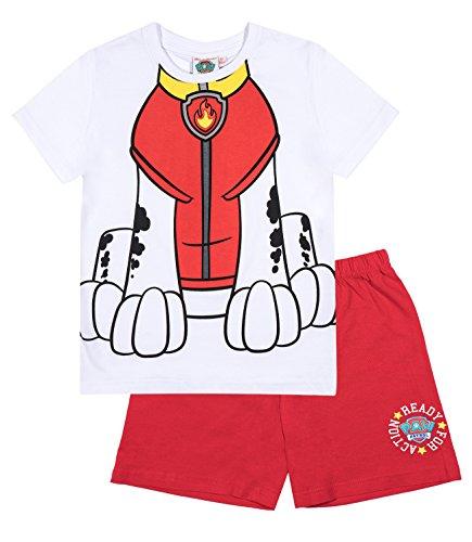 Paw Patrol Chicos Pijama mangas cortas – Rojo