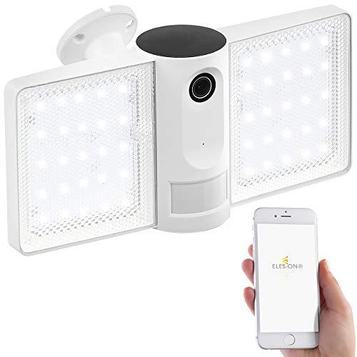 VisorTech Aussenleuchte mit Kamera: Full-HD-IP-Überwachungskamera, LED-Strahler, WLAN, App, für Echo Show (Aussenlampe mit Kamera)