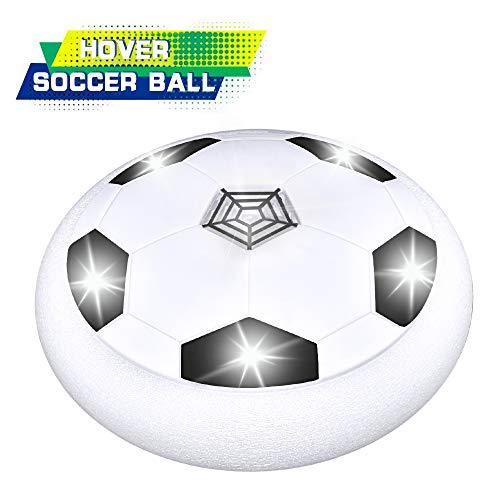 KITY Spielzeug für Jungen ab 4-12 Jahre,Air Power Fußball Spielzeug Jungen Spielzeug ab 5-12 Jahre der Super Hover Ball mit LED Beleuchtung Kinder Jungen und Mädchen Indoor Outdoor Ballspiel(Weiß) -