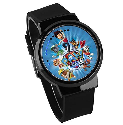 isierte Benutzerdefinierte Paar Watch Dog Patrouille Anime Peripher Leuchtende wasserdichte Touch-Led-Uhr A ()