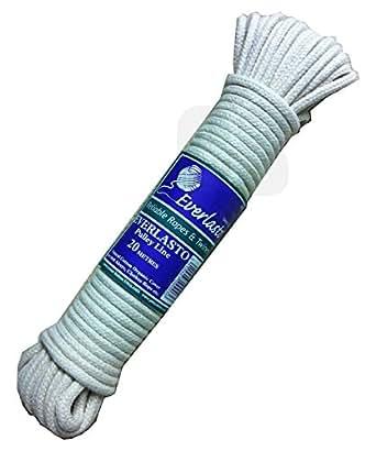 Everlasto Corde à linge de remplacement en coton naturel 20 m