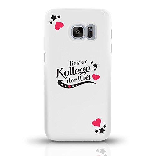 """JUNIWORDS Handyhüllen Slim Case für Samsung Galaxy S7 mit Schriftzug """"Bester Kollege der Welt"""" - ideales Weihnachtsgeschenk für den Kollegen - Motiv 2 - Handyhülle, Handycase, Handyschale, Schutzhülle motiv 2"""