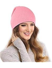 5890a93ed187d0 DRUNKEN Women's Slouchy Soft Woollen Winter Beanie Caps Skull Pink Free_Size