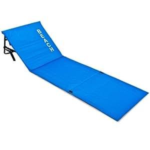 matelas de plage avec dossier bleu transat 160x54x38 cm plage vacances plage jardin. Black Bedroom Furniture Sets. Home Design Ideas