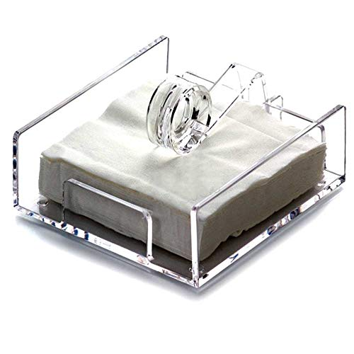 Middle Size Crystal Clear Acrylic Napkin Holder for Removable Sheet Paper(17*15.7*6.4cm) by displayonacrylic