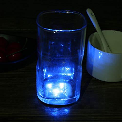 YMCHE 3LED Dessous de Verre Bouteille de lumière Clignotante lumière Tapis de Tasse Boisson Bouteille en Verre Tasse Dessous de Verre Home Party Bar Decor Tapis, Bleu, 45 * 2.5mm