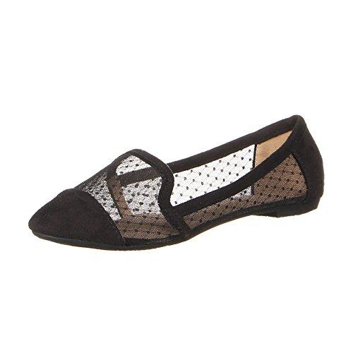 Damen Schuhe, 50152, HALBSCHUHE Schwarz