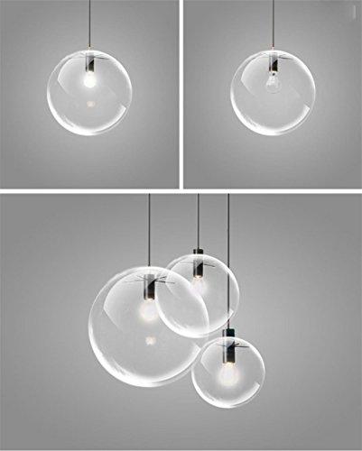Preisvergleich Produktbild NN Restaurant Lampe Lampe Modernen Einzigen Kopf Glas Kronleuchter Personalisierte Kreative Luftblase Transparente Glas Ball Kronleuchter , 20Cm,20cm