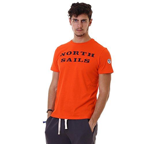 North Sails Herren T-Shirt S/S W/Print Arancione