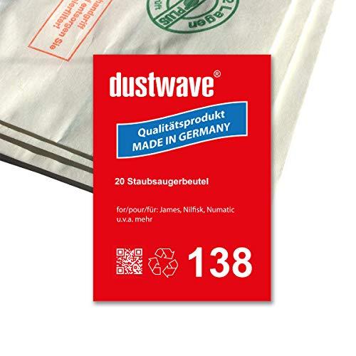Megapack - 20 Staubsaugerbeutel geeignet für Nilfisk - Org. Beutel: GV15020EU Bodenstaubsauger - dustwave® Premiumqualität - Made in Germany