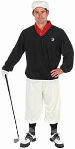 Golfer Sports Man Mens Pub Golf Fancy Dress Celebrity Adults Costume 4 Sizes (Men:  X-Large)