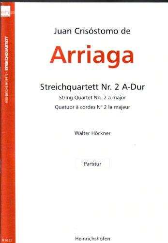 ARRIAGA - Quatuor à cordes n°2 la maj (partition de poche)