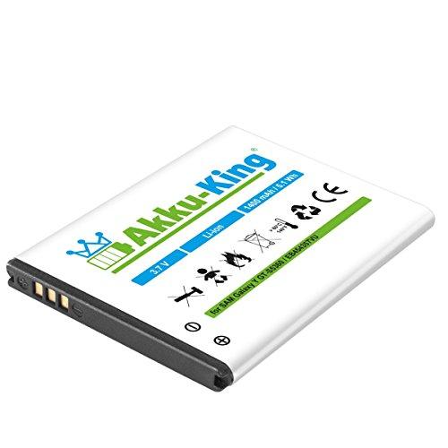 Akku-King Akku für Samsung Galaxy Y GT-S5360, Y Pro B5510, Wave Y GT-S5380, Pocket GT-S5300 - ersetzt EB454357VU EB454357BU Li-Ion 1400mAh