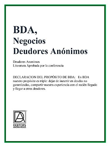 BDA, Negocios Deudores Anonimos eBook: Debtors Anonymous: Amazon ...