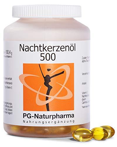 Nachtkerzenöl Kapseln mit Vitamin E - 150 Kapseln mit je 500mg Nachtkerzenöl (kaltgepresst) - Omega-6-Fettsäuren, Gamma-Linolensäure - 2,5-Monatsvorrat - Nachtkerzen Samen Öl